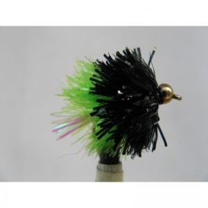 Goldhead Blob Flashtail Black/Green Size 10