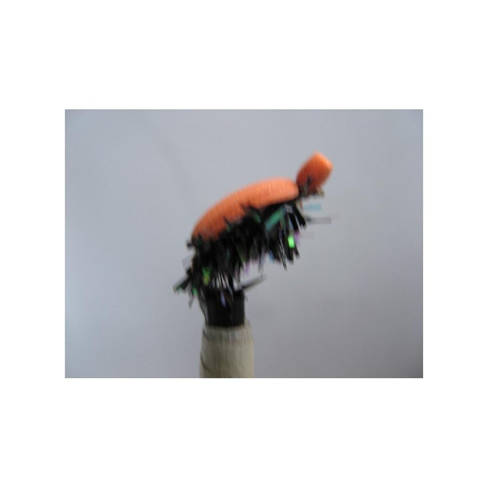 Foam Beetle Orange Black Fritz Size 12