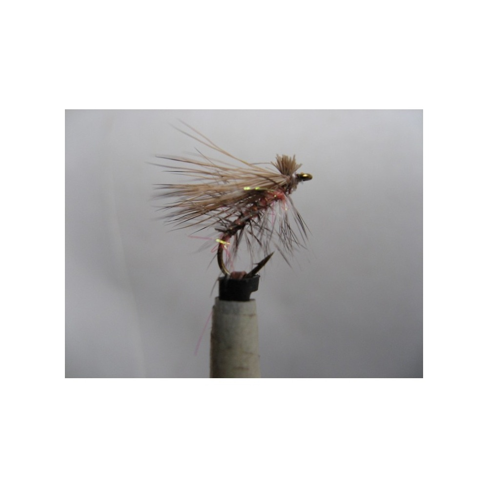 Elk Hair Emerger Orange Sparkle size 14