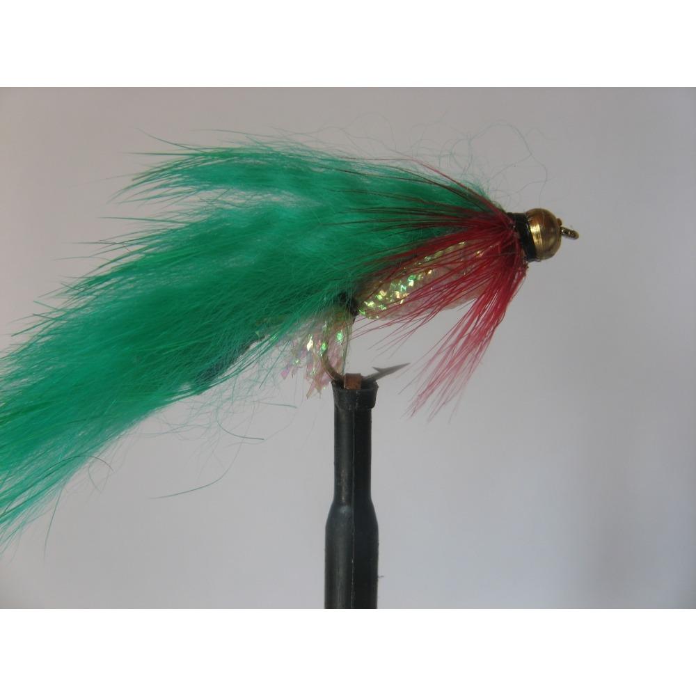 Zonker Goldhead Mylar Green Size 10 L/S
