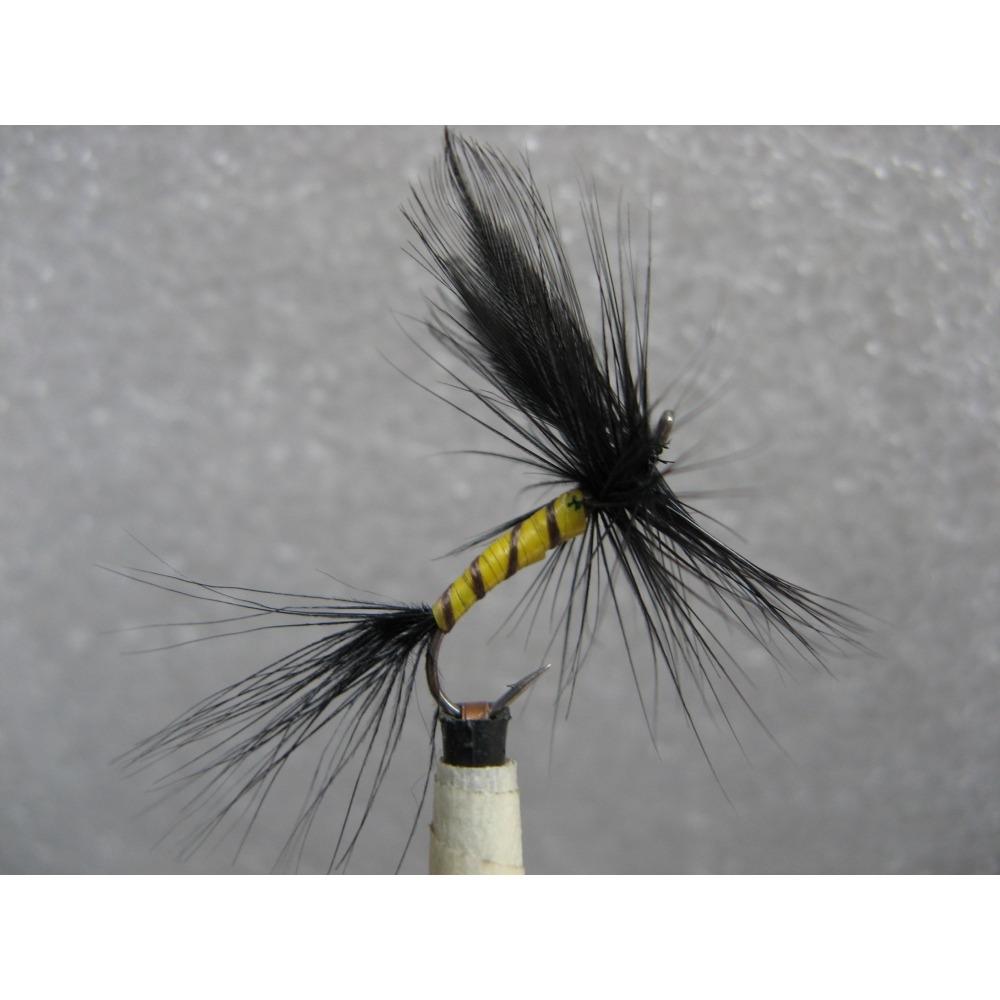 Mayfly Black Drake size 10