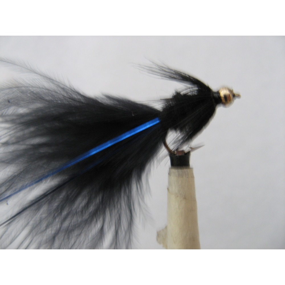 Goldhead Tadpole Black Blue Flash Size 12