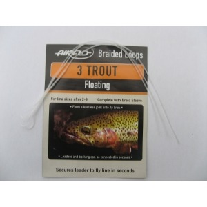 Airflo Braided Leader Loops Trout Floating  ( Pack of Three )