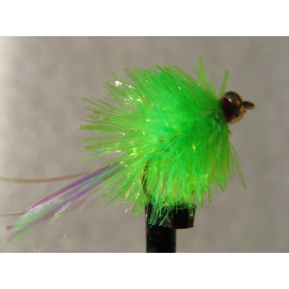 Goldhead Blob Flashtail Green  Size 10