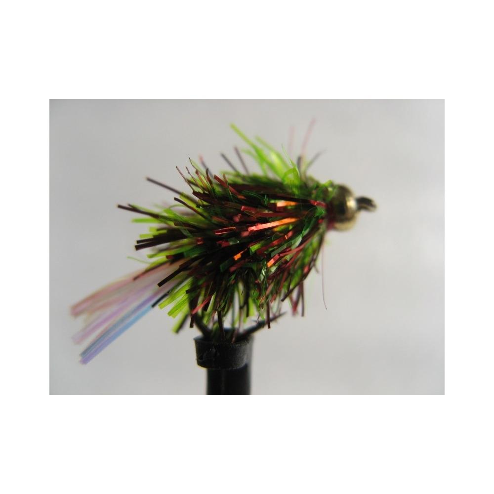Goldhead Blob Flashtail Dennis Red/Green Size 10