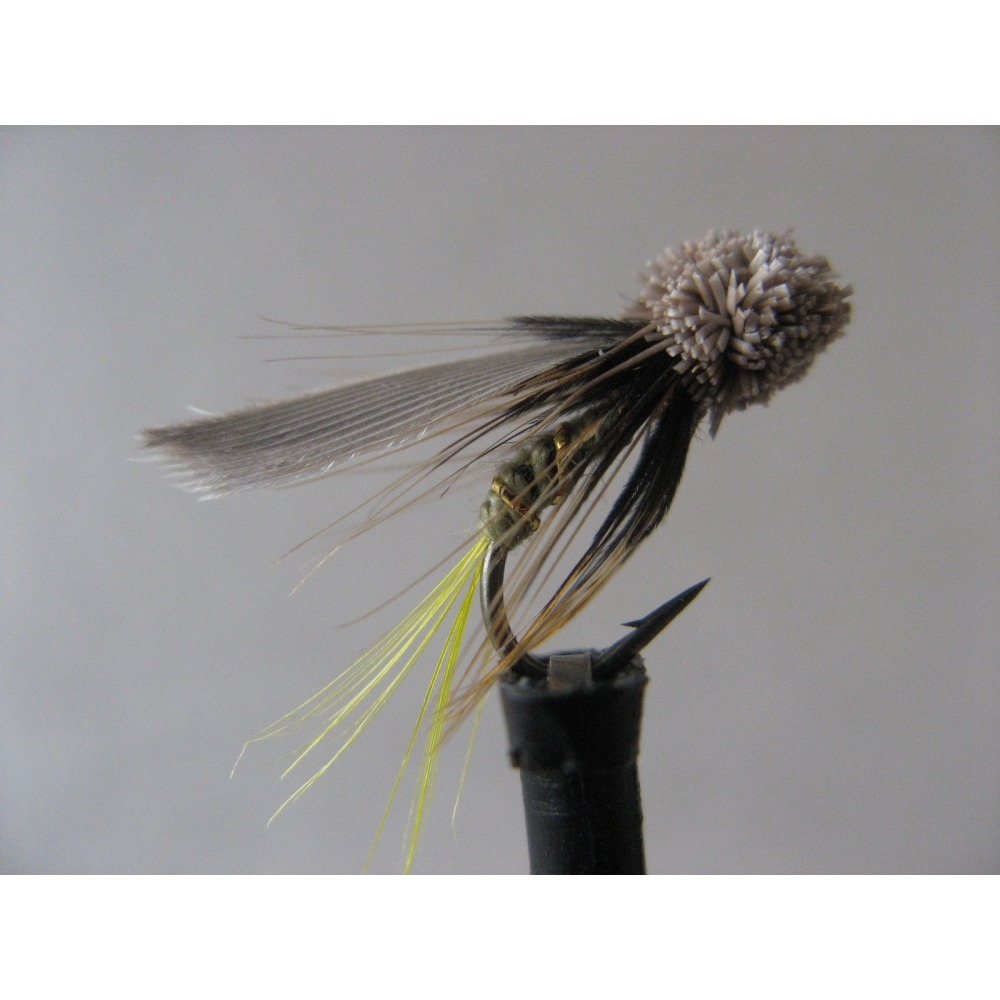 Mini Muddler Greenwell Yellow Tail