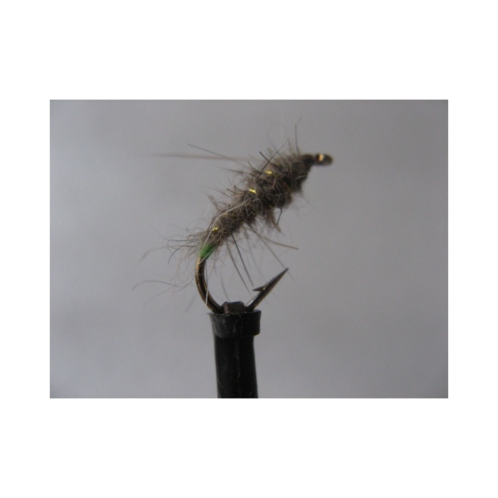Nymph Hares Ear Fluo Green Butt Size 10