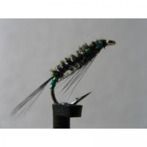 Diawl Bach Black UV Holo Green Size 10