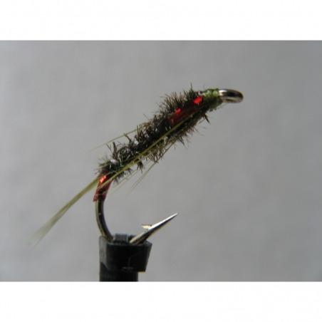 Diawl Bach Olive UV Holo Red Size 10