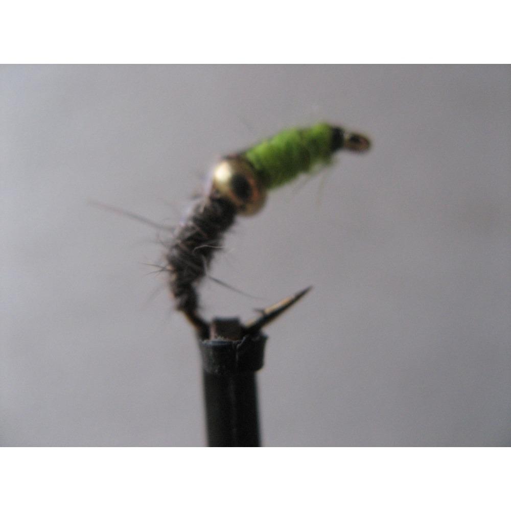 G/H Chartreuse & Hares Ear Czech Nymph Size 10