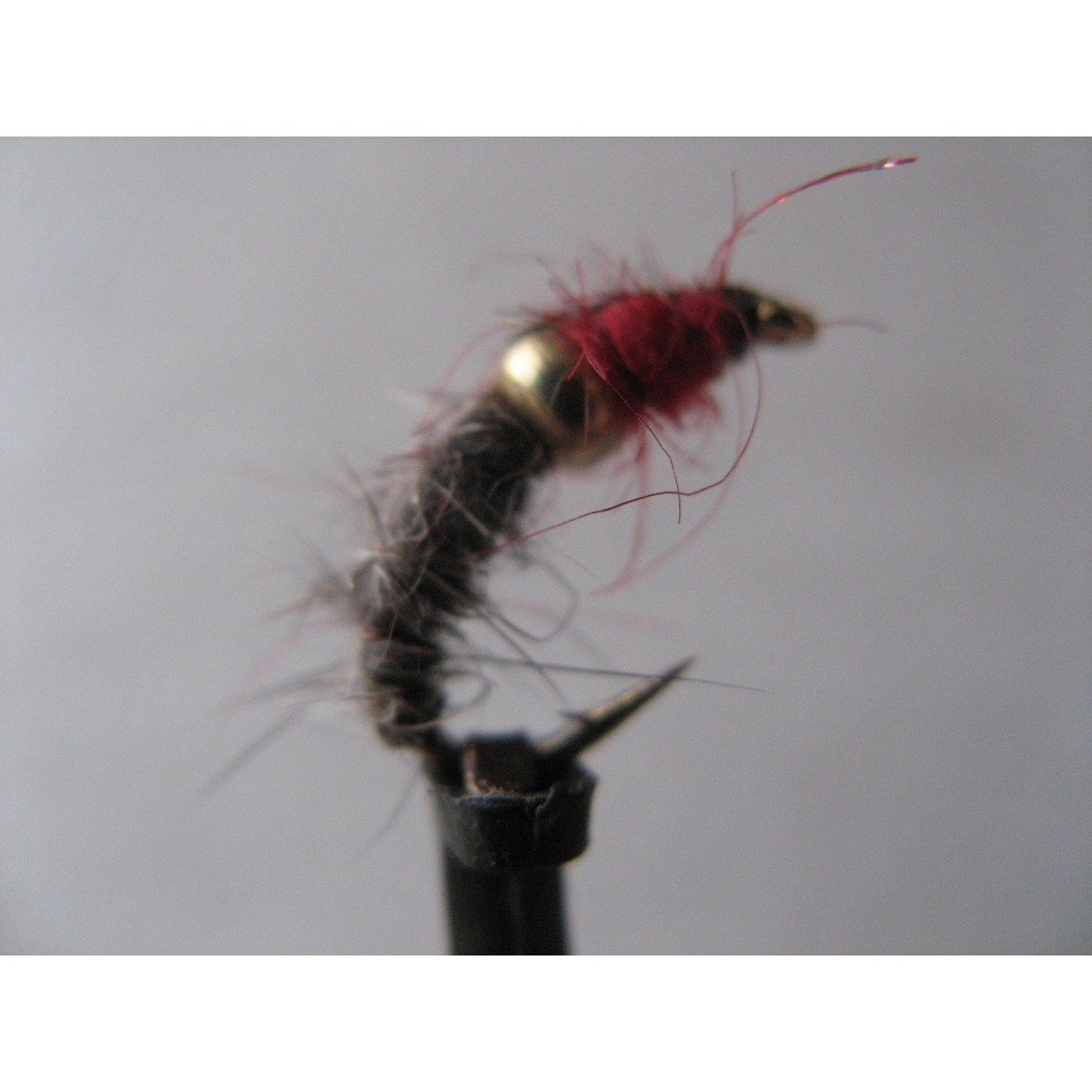 G/H Red & Hares Ear Czech Nymph Size 10