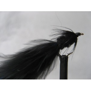 Barbless Black Tadpole Size 12