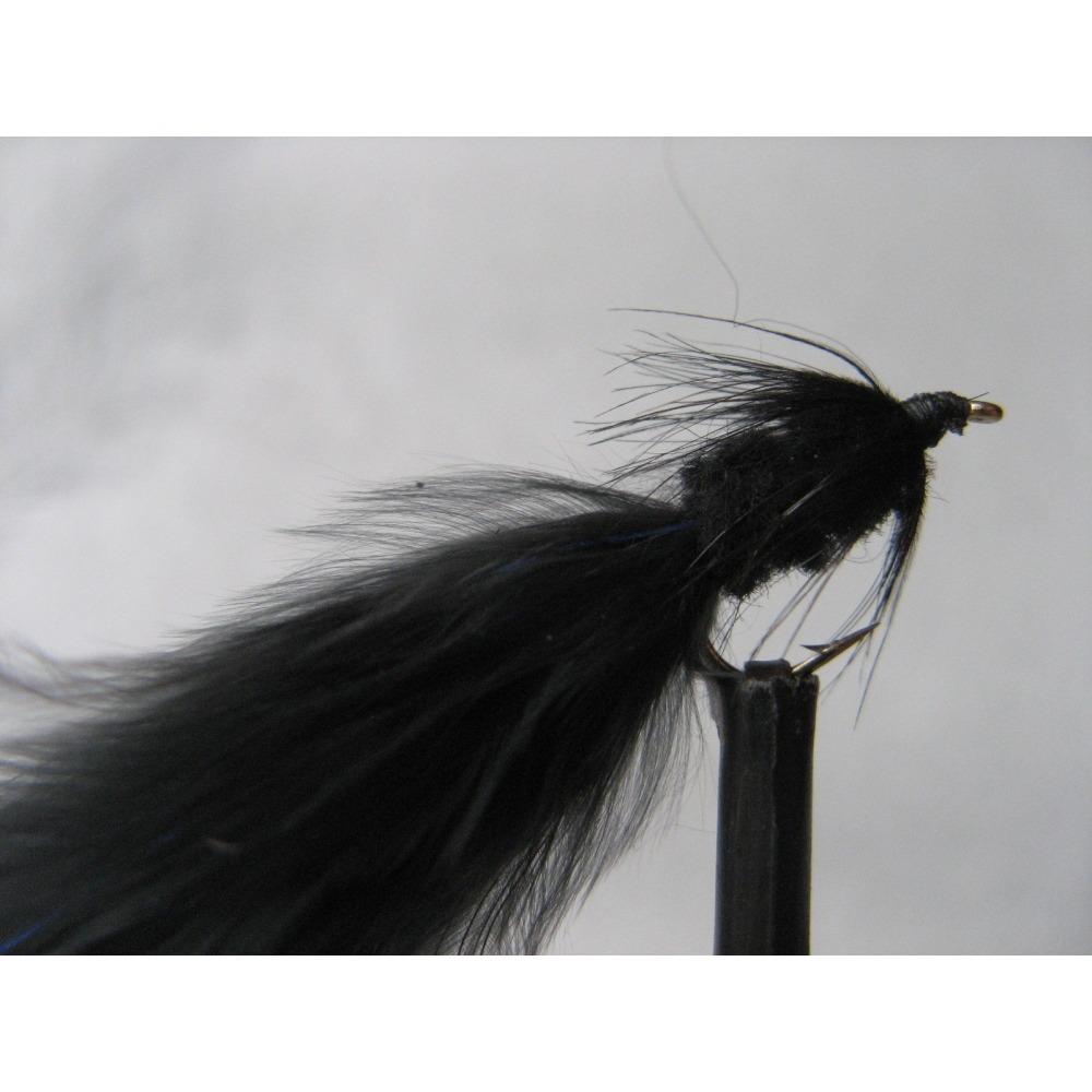 Barbless Black Tadpole Size 12