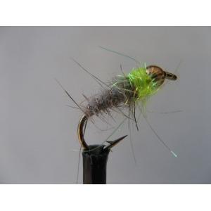 Shrimp Weighted Hares Ear Size 10