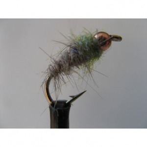 Goldhead Tadpole Black Blue Flash Size 12