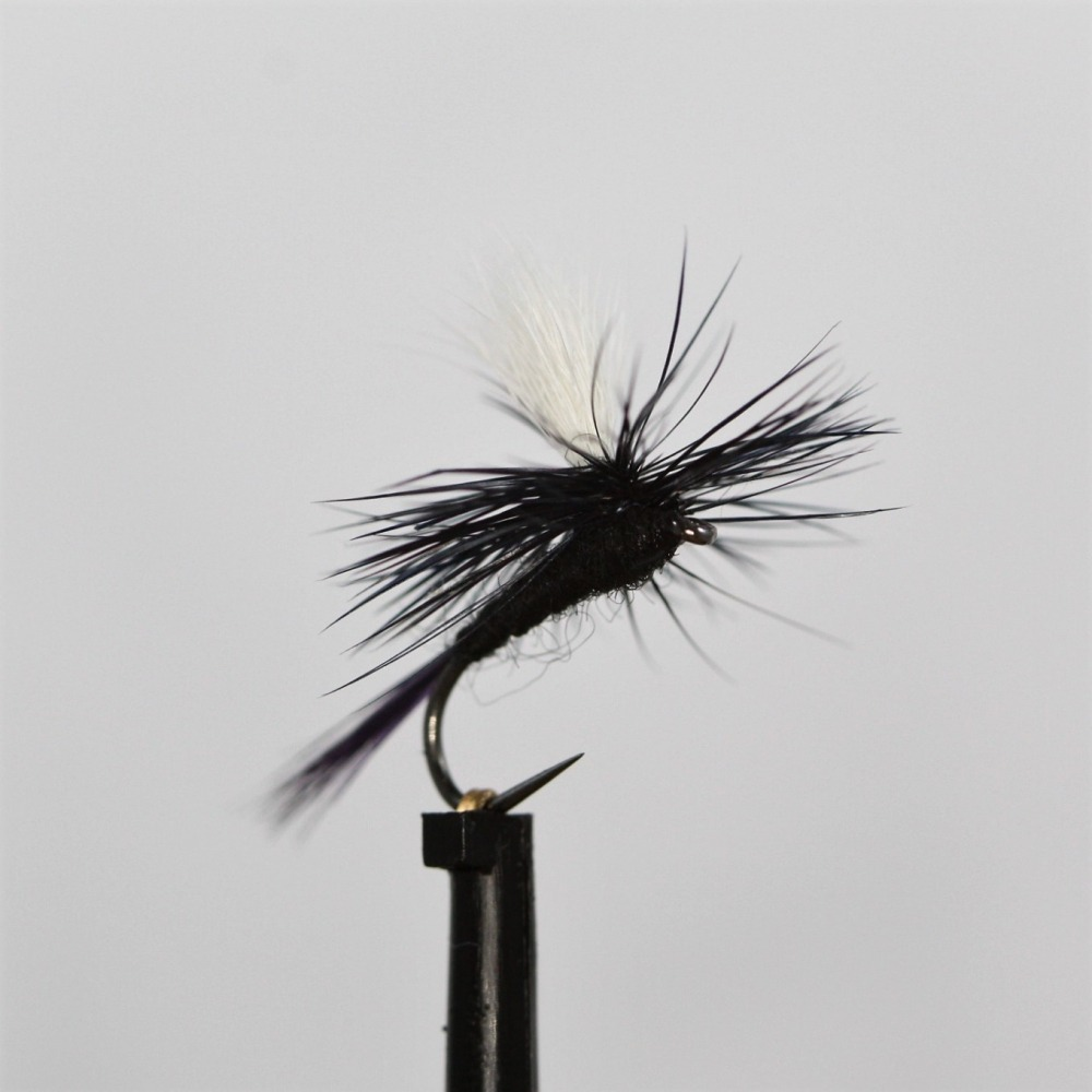 Black Gnat Para Dry Barbless Size 14
