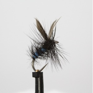 Blue Bottle Dry Barbless Size 14