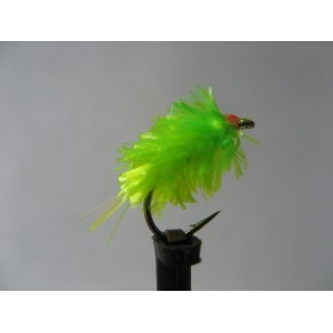 Barbless Cruncher Std Holo Green Cheeks Size 12