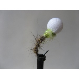 Hares Ear and Chartreuse Susp Buzzer Barbless