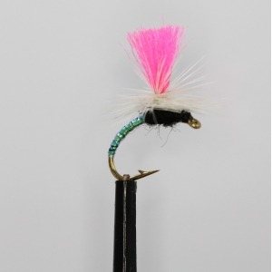 6 x KLINKHAMMER GREASED LIGHTNING PINK DRY TROUT FISHING FLIES SIZE 12