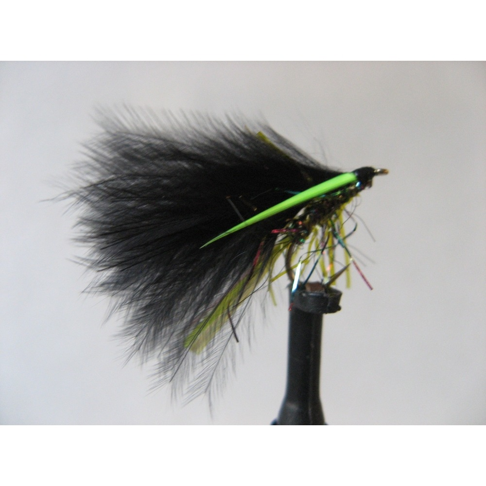 Set of 3 Fly Fishing Flies Trout Hothead Orange Straggle Fritz Lure size 10