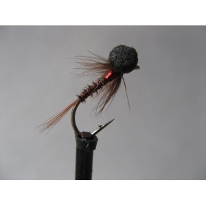 Mini Muddler Greenwell Yellow Tail