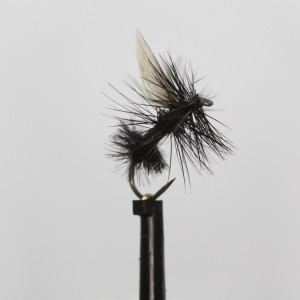 Black Ant Hi Float Dry Barbless Size 14