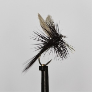 Black Gnat Dry Barbless Size 14