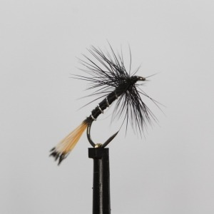 Black Pennel Dry Barbless Size 14