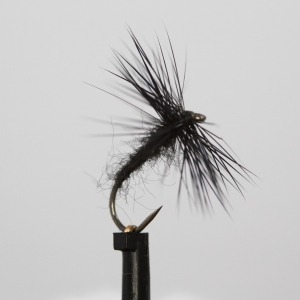 Black Spider Dry Barbless Size 14