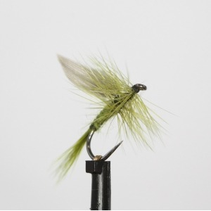 Lake Olive Dry Barbless Size 14