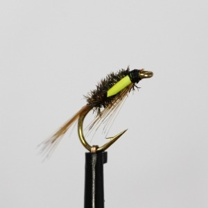 Standard Diawl Bach with Yellow Goose Biot Cheeks