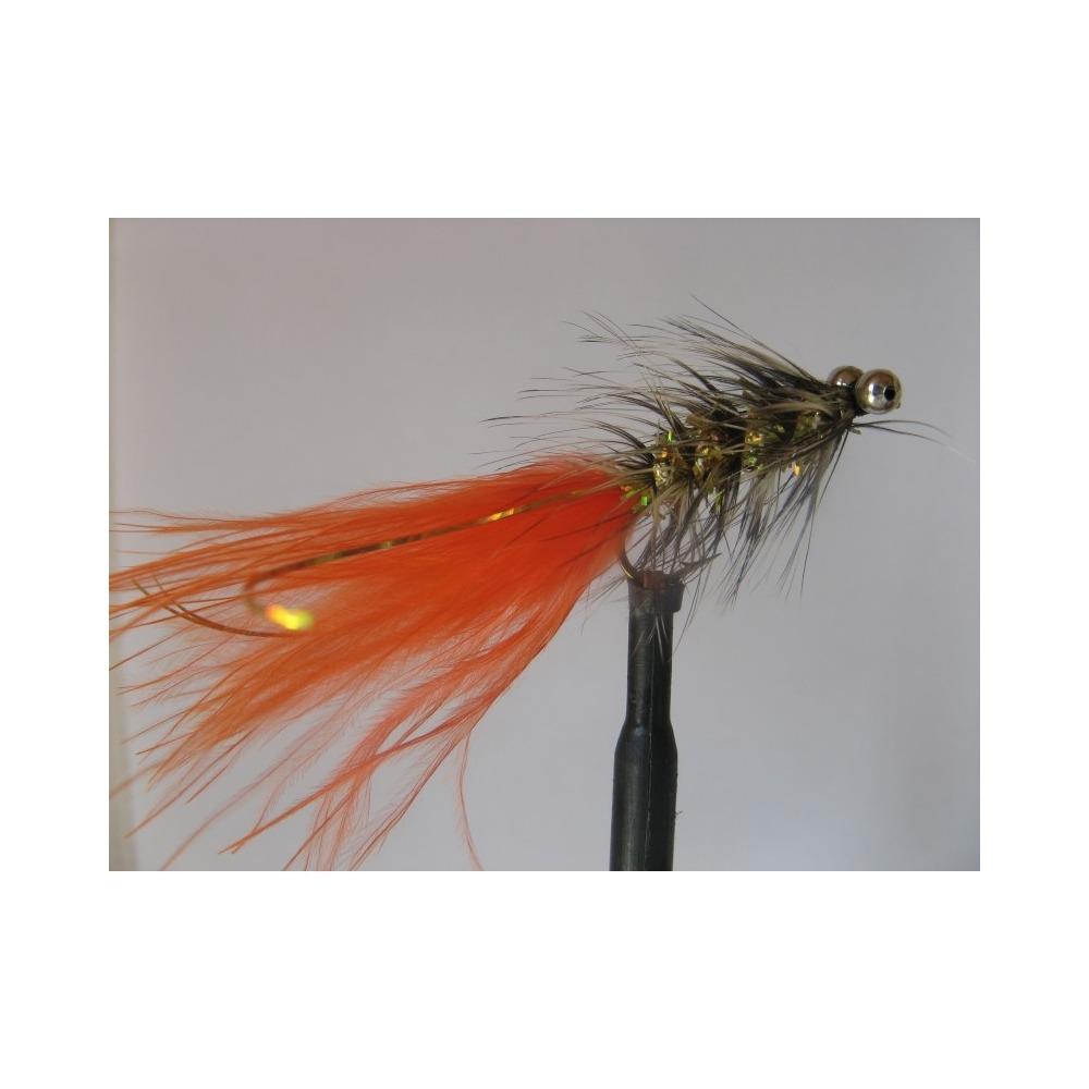 6 Mini Lures Goldhead Blue /& Orange Dancers Size 12 Fishing Flies Trout Flies