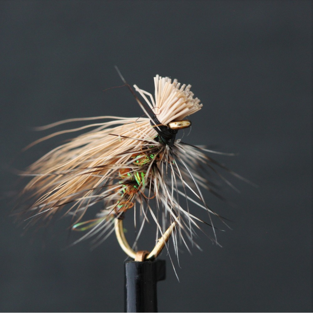 Lime Sparkle Elk Hair Emerger
