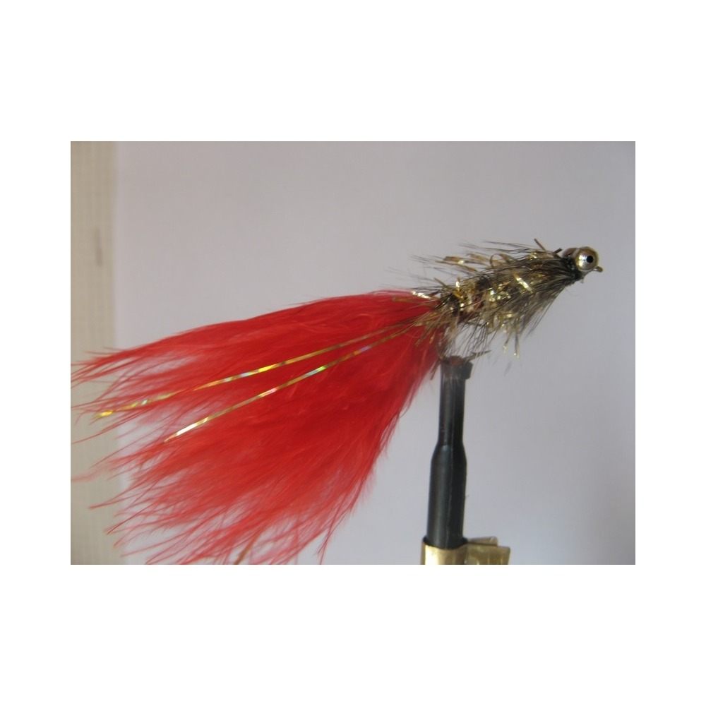 Fly Fishing Flies Fry Set of 3 Red Holographic  Cormorant Size 10
