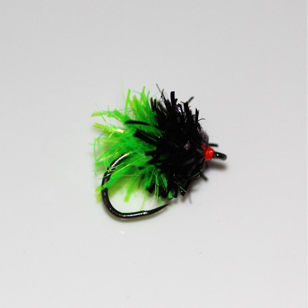 Black & Green Midget Gem Barbless