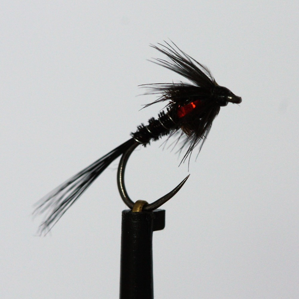 Black Holo Red Cheeks Cruncher Barbless