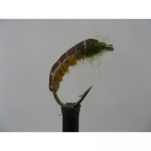 Czech Nymph Weighted Amber & Olive Size 10