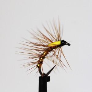 Barbless Yellow Drake Size 10