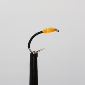 Orange Epoxy Stalking Bug Barbless Size 10