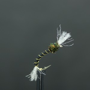Olive/Lime Green Mosaic Booby Size 10