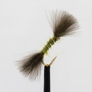 Black/Green Emerger Buzzer Size 12