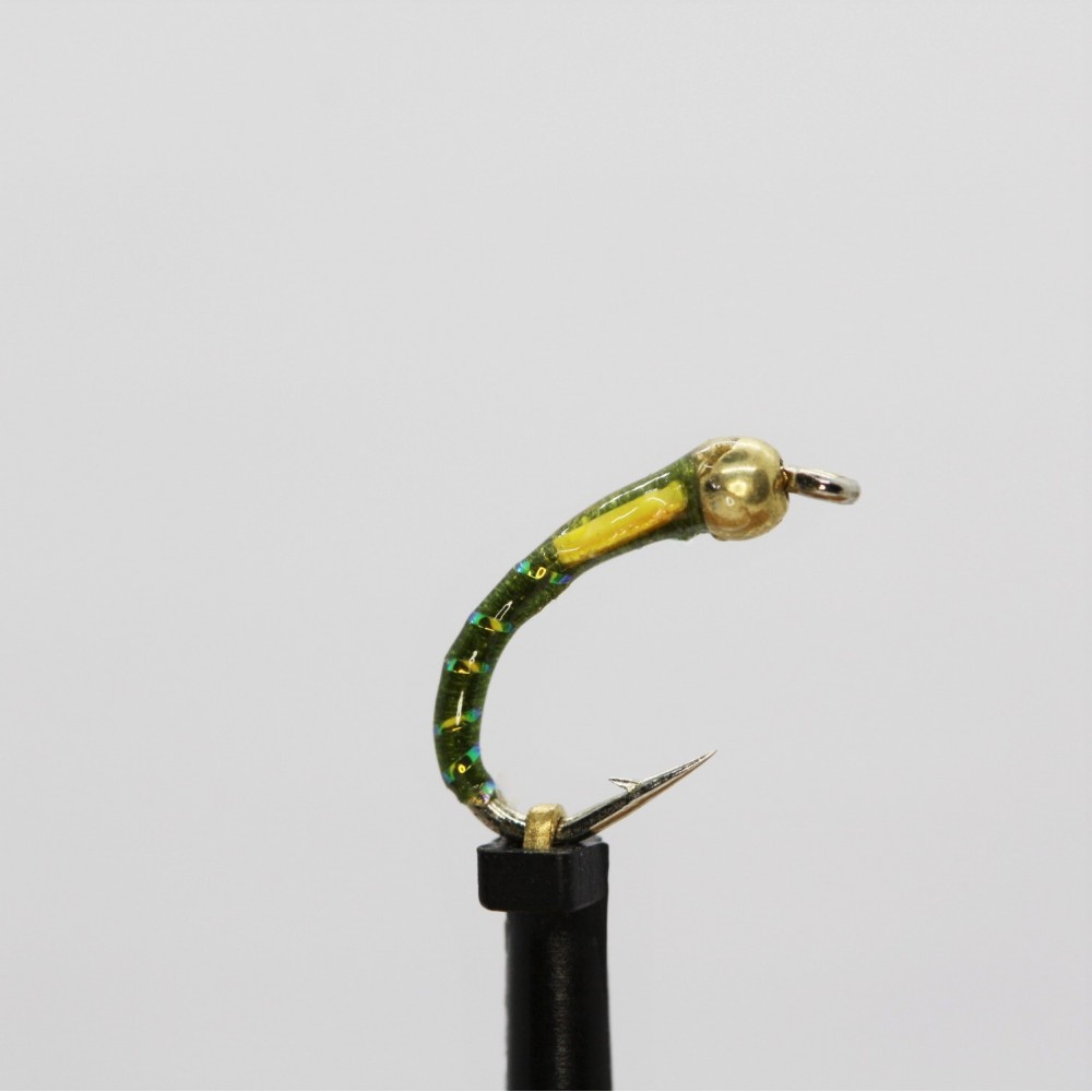 Gold Head Olive Sunburst Cheeks Buzzer