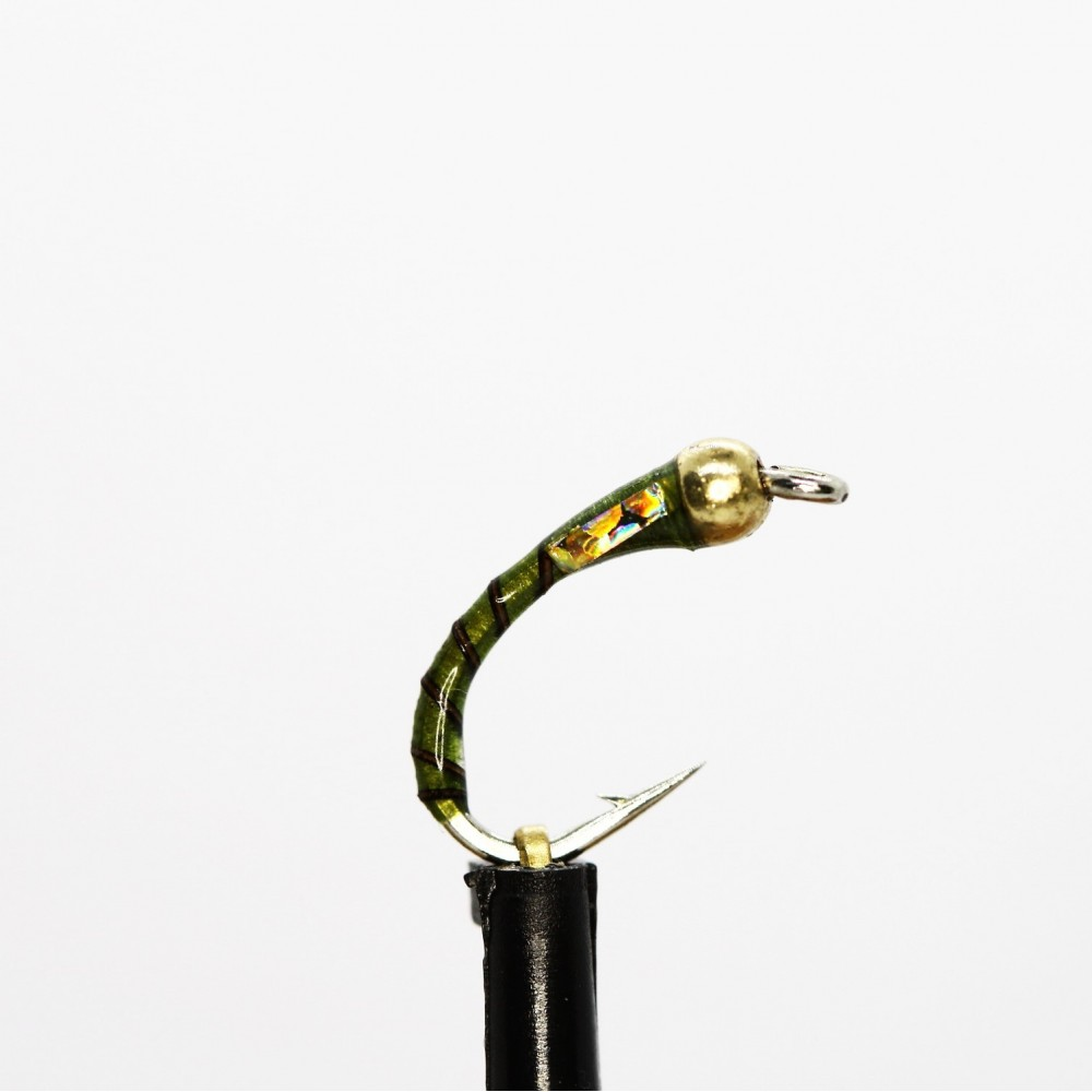 Gold Head Olive Quill Buzzer