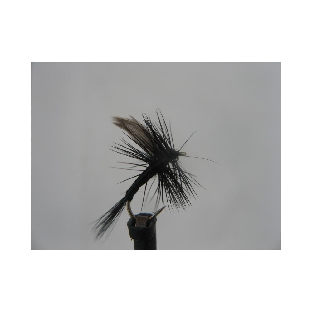 Dry Black Gnat Size 14