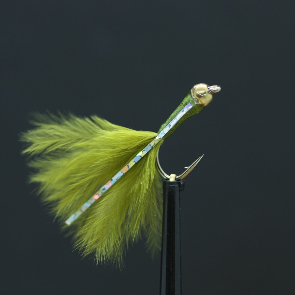 Fly Fishing Flies Fry Set of 3 Holographic Cormorant Size 16
