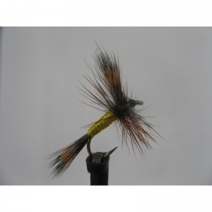 Dry Grizzly Wulff Size 14