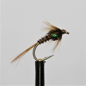 UV Black Holo Green Cheeks Barbless Epoxy Buzzer