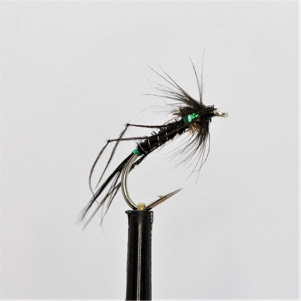 Black Holo Green Leggy Devil Cruncher