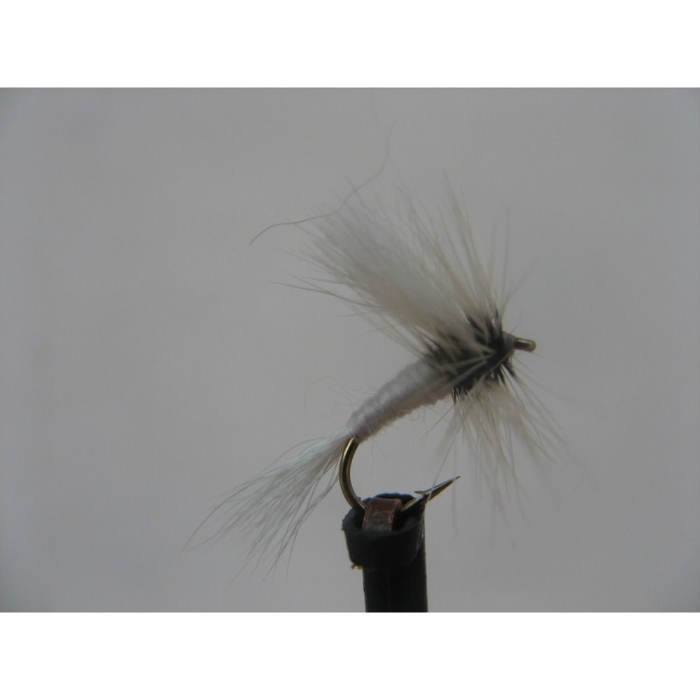Dry White Wulff Size 14